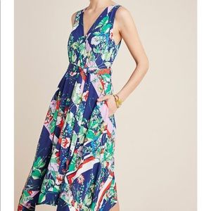 Anthropologie Maeve floral wrap dress 12